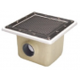 Atralpool commercial main drain for liner pools, in polyester and fiberglass 355x355 mm