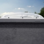 Velux CVP Integra electric opaque polycarbonate flat roof dome 1
