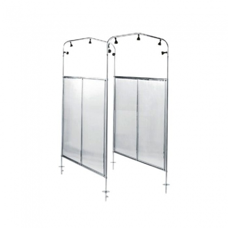 Astralpool 2 arches shower tunnel in polished AISI 304