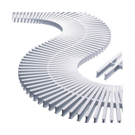 Astralpool modular transversal grating for curves, Height 22 mm, Width 195 mm