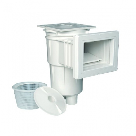 Astralpool Skimmer 17.5 Lt with standard opening and face plate with square lid for concrete pool