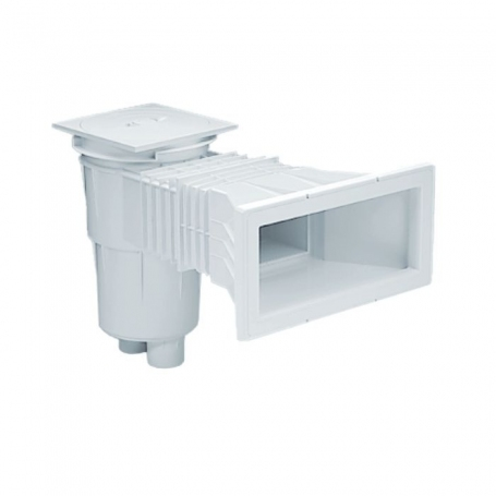 Astralpool Skimmer 17.5 Lt with wide mouth opening with square lid for concrete pools