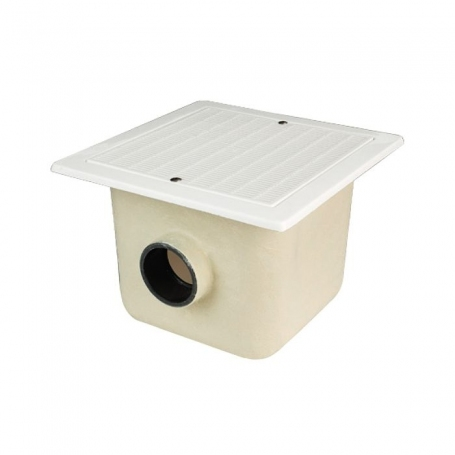Astralpool main drains 330x330 Solvent socket outlet connection Ø125 mm