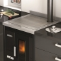 Eva Calòr Enrica pellet stove built-in with oven and hob 1