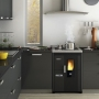 Eva Calòr Enrica pellet stove built-in with oven and hob