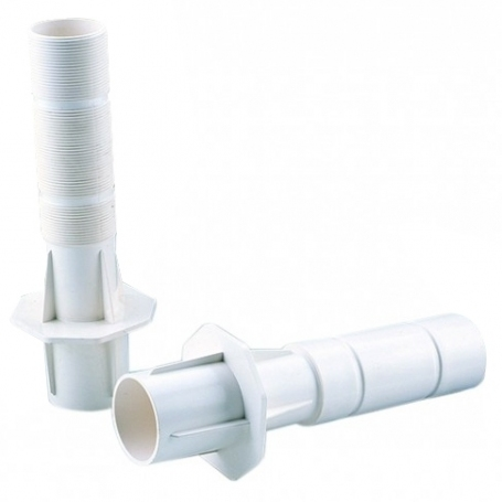 """Astralpool wall conduit rear 63 mm solvend weld and inside Ø 50 mm 2"""" front internal thread for 2"""" male thread inlet"""