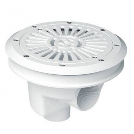 Astralpool Circular Main drain with flat grille diam.200 mm.